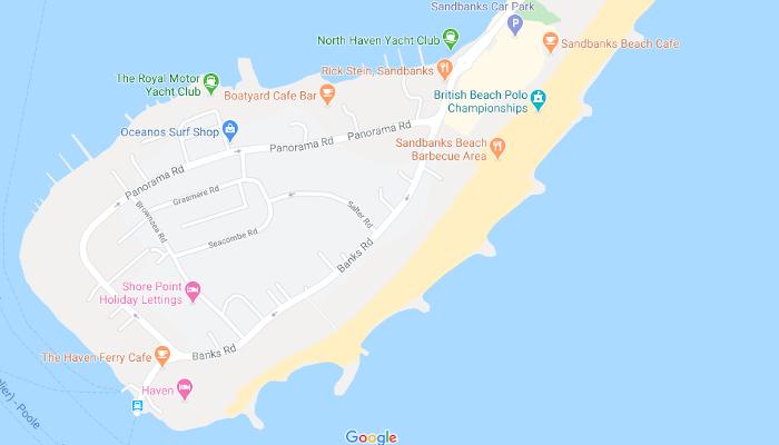 Map of Sandbanks